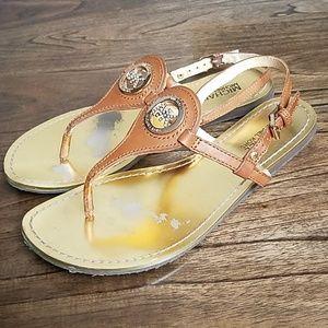 5c08bb15f27a MICHAEL Michael Kors Shoes - Michael Kors Lee Thong Ankle Strap Sandals